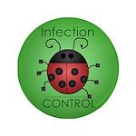 "IC Ladybug 3.5"" Button (100 pack)"