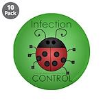 "IC Ladybug 3.5"" Button (10 pack)"