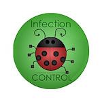 "IC Ladybug 3.5"" Button"