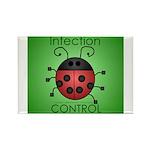 IC Ladybug Rectangle Magnet (10 pack)