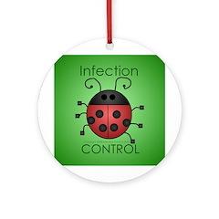 IC Ladybug Ornament (Round)
