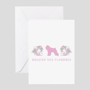 """""""Elegant"""" Bouvier des Flandres Greeting Card"""