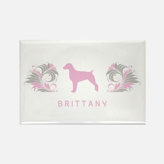 """""""Elegant"""" Brittany Rectangle Magnet (10 pack)"""