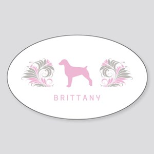 """Elegant"" Brittany Oval Sticker"
