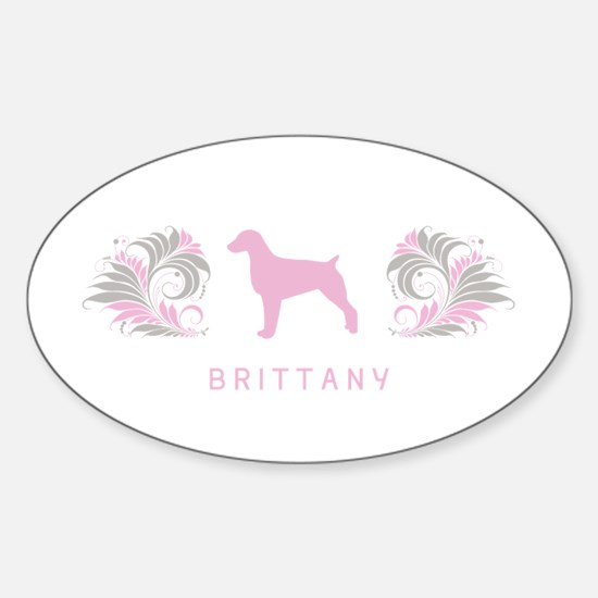 """Elegant"" Brittany Oval Decal"