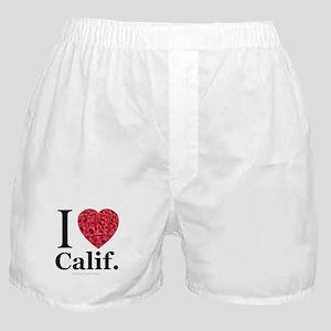 I Love Calif. Boxer Shorts