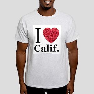 I Love Calif. Ash Grey T-Shirt
