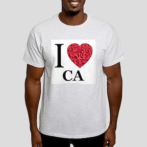 I Love CA Ash Grey T-Shirt