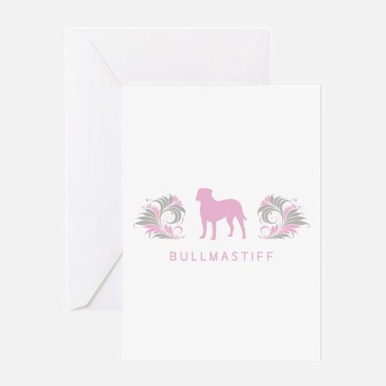 """""""Elegant"""" Bullmastiff Greeting Card"""