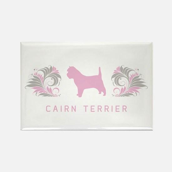 """""""Elegant"""" Cairn Terrier Rectangle Magnet"""