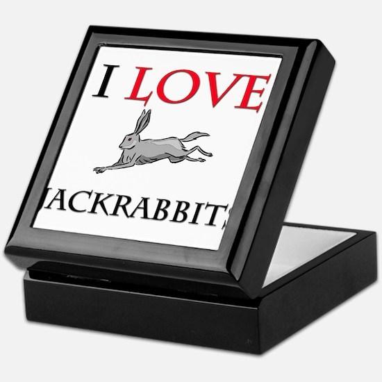 I Love Jackrabbits Keepsake Box