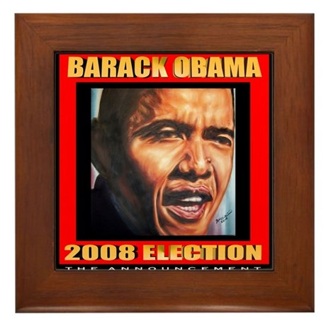 Barack Obama's Souvenir Framed Tile