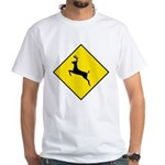 Deer Crossing Sign White T-Shirt
