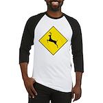 Deer Crossing Sign Baseball Jersey