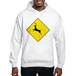 Deer Crossing Sign Hooded Sweatshirt