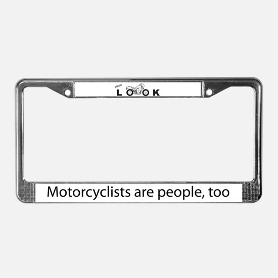 """please LOOK"" License Plate Frame"