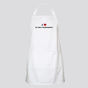 I Love My Husband BBQ Apron