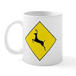 Deer Crossing Sign - Mug