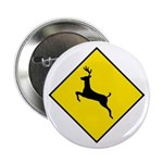 """Deer Crossing Sign - 2.25"""" Button (10 pack)"""