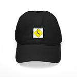 Deer Crossing Sign - Black Cap