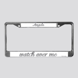 2 Angels Are Watching Over Me License Plate Frame