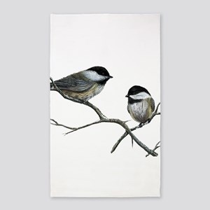 chickadee song birds Area Rug
