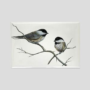 chickadee song birds Magnets