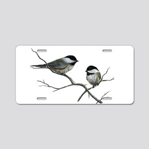 chickadee song birds Aluminum License Plate