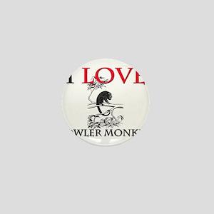 I Love Howler Monkeys Mini Button