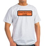 Construction Zone Sign Ash Grey T-Shirt