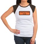 Construction Zone Sign Women's Cap Sleeve T-Shirt