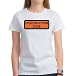 Construction Zone Sign Women's T-Shirt