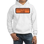 Construction Zone Sign Hooded Sweatshirt