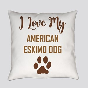 I LOVE MY DOG Everyday Pillow