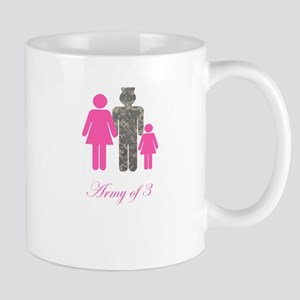 Army of 3 (baby girl) Mug