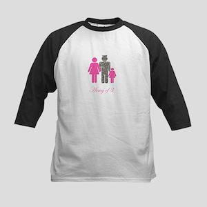 Army of 3 (baby girl) Kids Baseball Jersey
