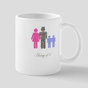 Army of 4 (2 boys) Mug
