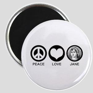 Peace Love Jane Magnet