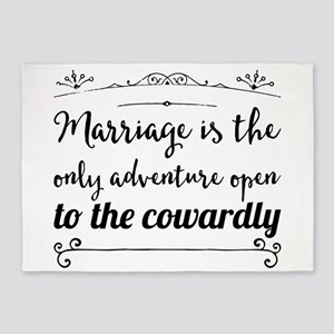 Marriage is the only adventure open 5'x7'Area Rug