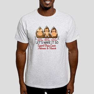 See Speak Hear No Brain Cancer 2 Light T-Shirt
