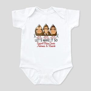 See Speak Hear No Brain Cancer 2 Infant Bodysuit