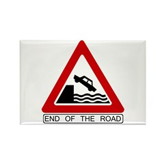 End of the Road sign - Rectangle Magnet (100 pack)