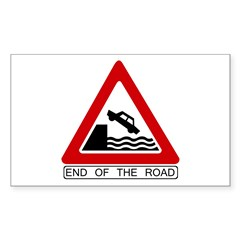 End of the Road sign - Rectangle Decal