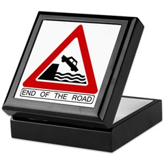 End of the Road sign - Keepsake Box
