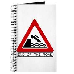 End of the Road sign - Journal