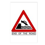 End of the Road sign - Postcards (Package of 8)