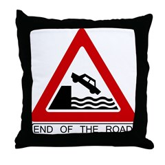 End of the Road sign - Throw Pillow