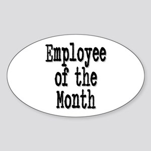 """Employee of the Month"" Oval Sticker"