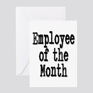 """""""Employee of the Month"""" Greeting Card"""