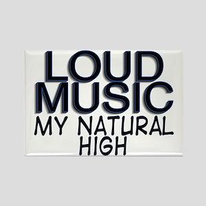 Loud Music Rectangle Magnet